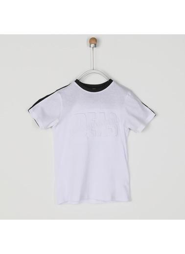Panço Erkek Çocuk Kısa Kollu T-shirt 2021BK05018 Beyaz